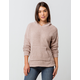 FULL TILT Essentials Chenille Taupe Womens Hooded Sweater
