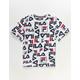 FILA Allover Logo White Boys T-Shirt