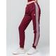 ADIDAS 3 Stripes Maroon Womens Jogger Pants
