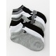 ADIDAS 6 Pack Originals Trefoil Black & White Womens Ankle Socks