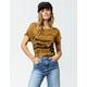 RVCA Warped Palm Womens Pocket Tee