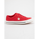CONVERSE One Star Ox Cherry Red & Vintage White Womens Low Top Shoes