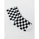 VANS Ticker Black Checkerboard Womens Crew Socks