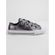 CONVERSE Chuck Taylor All Star Big Eyelets Ox Silver Girls Low Top Shoes