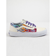 VANS Sparkle Flame Old Skool Rainbow & True White Girls Shoes