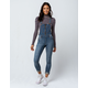 IVY & MAIN Zip Front Womens Denim Overalls