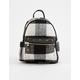 Plaid Black & White Mini Backpack