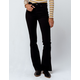 IVY & MAIN High Waisted Frayed Hem Womens Flare Jeans