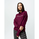 CHAMPION Reverse Weave Chain Stitch Logo Burgundy Womens Hoodie
