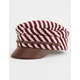BRIXTON Albany Burgundy & Cream Womens Fiddler Cap