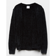 FULL TILT Essentials Chenille Black Girls Cardigan