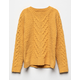 WHITE FAWN Cable Knit Mustard Girls Sweater