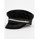 BRIXTON Albany Black & Silver Womens Fiddler Cap