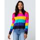 FULL TILT Color Block Womens Crop Sweater