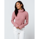 IVY & MAIN Chenille Pink Womens Turtleneck Sweater