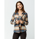 DESTINED Two Pocket Boyfriend Natural Womens Flannel Shirt