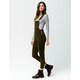 SKY AND SPARROW Corduroy Olive Womens Overalls