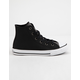 CONVERSE Chuck Taylor All Star Graphite Glitter Leather Girls High Top Shoes