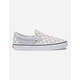 VANS Checkerboard Gray Dawn & True White Womens Slip-On Shoes
