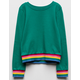 FULL TILT Rainbow Band Girls Sweatshirt