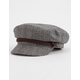 BRIXTON Heather Gray & Cream Womens Fiddler Cap