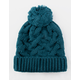 Everyday Cable Knit Pom Pine Womens Beanie