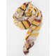 Plaid Oblong Mustard Womens Scarf