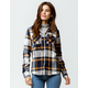DESTINED Hooded Navy Womens Flannel Shirt