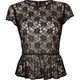 ALI & KRIS Lace Peplum Womens Top