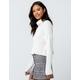 IVY & MAIN Chenille Cream Womens Turtleneck Sweater