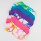 FULL TILT 6 Pack Tie Dye/Solid No Show Socks
