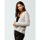 FULL TILT Essentials Chenille Cream Womens Cardigan