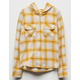 DESTINED Hooded Mustard Girls Flannel Shirt