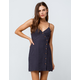 SKY AND SPARROW Asymmetrical Button Front Dress