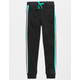 FULL TILT Side Stripe Black Girls Jogger Pants