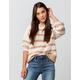 FULL TILT Essentials Stripe Taupe Womens Chenille Sweater