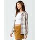 DESTINED Two Pocket Boyfriend Ivory Womens Flannel Shirt