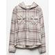 DESTINED Hooded Cream Girls Flannel Shirt