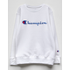 CHAMPION Heritage White Girls Sweatshirt