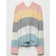 WOVEN HEART Color Block Girls Hooded Sweater