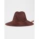 BRIXTON Bells Brown Fedora Straw Hat
