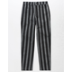 WHITE FAWN Stripe Black & White Girls Crop Pants