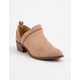 QUPID Rager Taupe Womens Booties