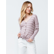 SKY AND SPARROW Stripe Button Taupe Womens Thermal