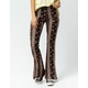 SKY AND SPARROW Floral Linear Womens Flare Pants