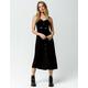 MIMI CHICA Button & Knot Front Black Midi Dress