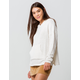 FULL TILT Essentials Chenille Cream Womens Hooded Sweater