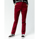 DICKIES Straight Leg Burgundy Work Pants