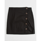 WHITE FAWN Side Button Black Girls Skirt