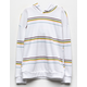 FULL TILT Wide Stripe White Girls Hoodie
